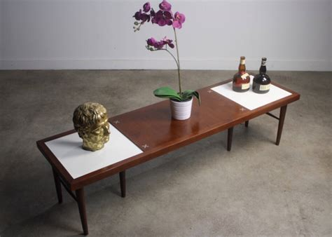 coffee table with tile inlay of martinsville mid century modern coffee table