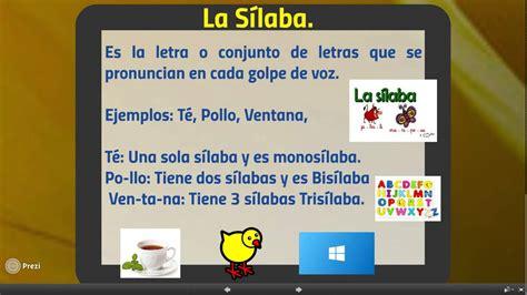 las silabas en espanol para ninos la s 237 laba para ni 241 os youtube