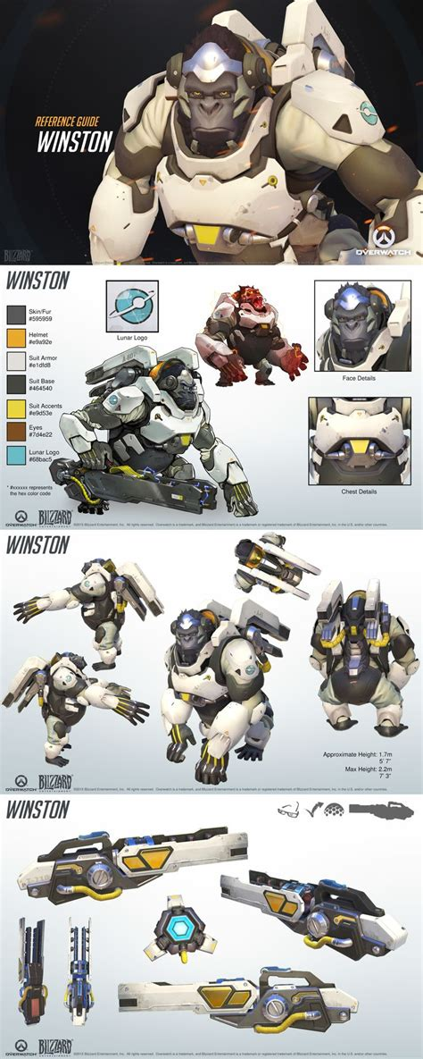 libro overwatch world guide overwatch winston reference guide character design watches dr who and design