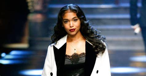 lori harvey steve harvey s stepdaughter lori makes modeling debut