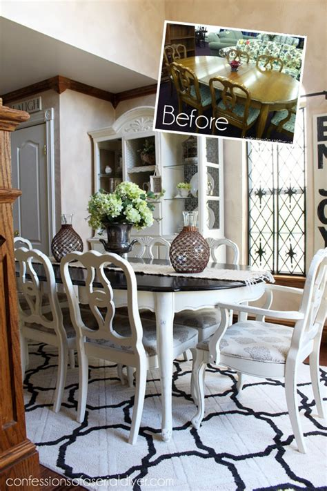 85 Thrift Store Dining Set Makeover Confessions Of A How To Paint Dining Room Furniture