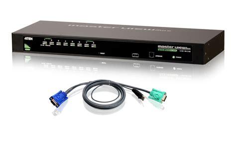Murah Kvm Aten 4 Port Vga Audio Switch Vs0401 cs1308kit aten cs1308kit 8 port usb ps2 kvm w 8 usb kvm cables