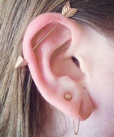top ear bar 20 atrevidos y lindos piercings en la oreja que querr 225 s usar