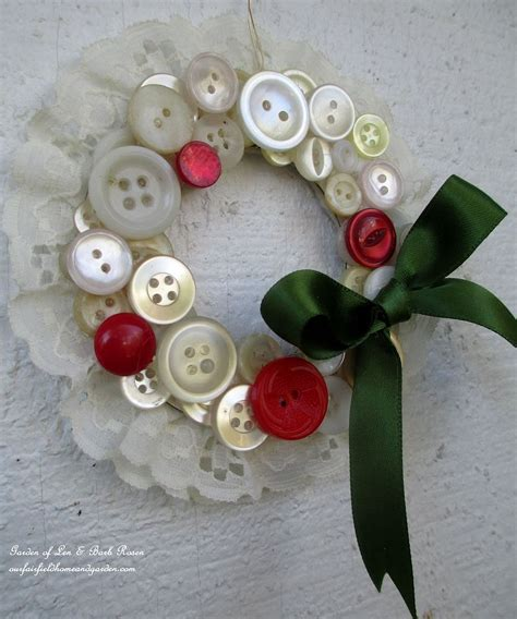 hometalk how to make vintage button wreath ornaments