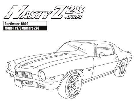 coloring pages camaro cars free coloring pages of chevrolet camaro ss