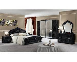 moda black italian bedroom set