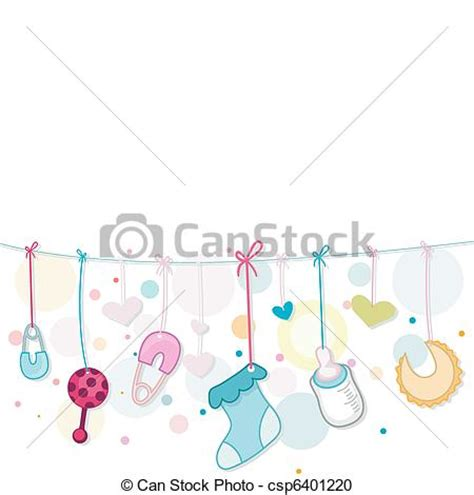 Vector Clipart of Baby Things - Illustration of Baby ... Free Baby Related Clipart