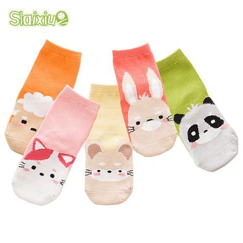 pattern child socks 5 pair lot kawaii pattern cotton kids socks baby