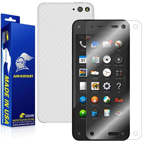 amazon fire phone amazon fire phone screen protector white carbon fiber
