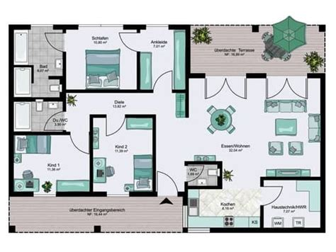 bungalow xxl floorplans  haus grundriss