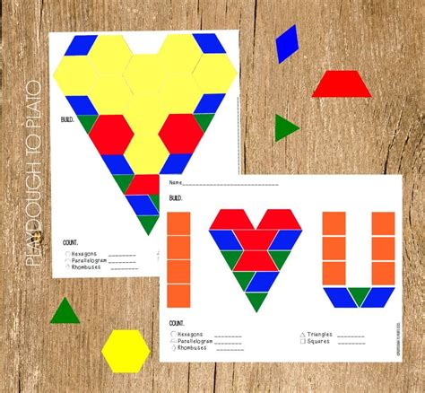 s pattern block mats playdough to plato
