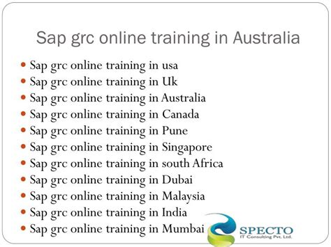 sap grc tutorial ppt sap grc governance risk and compliance online