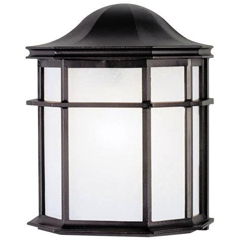 plastic outdoor wall light fixtures westinghouse 1 light textured black on cast aluminum