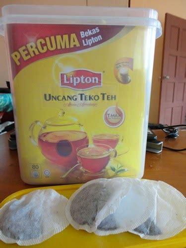 Teh Uncang Lipton beli teh lipton dapat percuma bekas lipton yumida