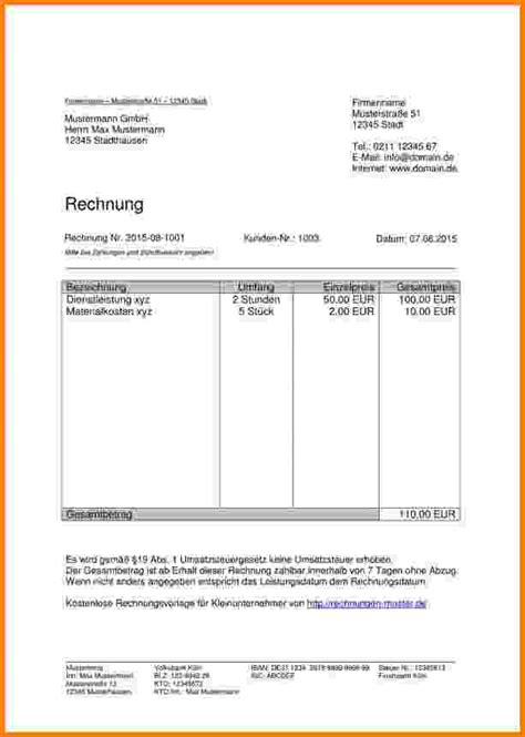 Rechnung Schreiben Baugewerbe Muster 11 rechnung richtig schreiben muster sponsorshipletterr