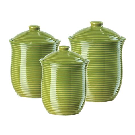 Green Kitchen Canisters by Gift Home Today Storage Canisters For The Kitchen