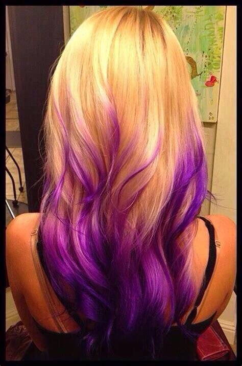 purple and blonde hairstyles blonde to purple ombr 233 hair pinterest