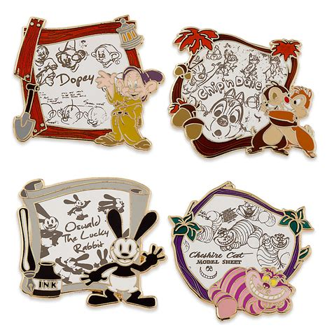 Satu Set Pinset disney animation limited edition pin set inside the magic