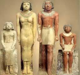 Giza showing a typical though upper class family and their dress