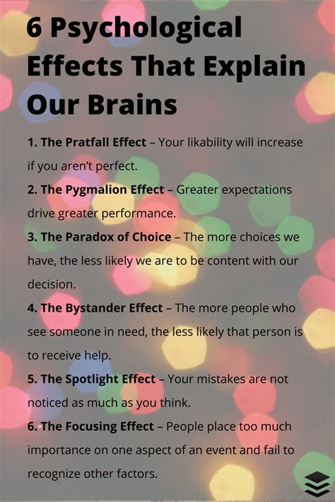 psychological comfort definition 6 psychological effects that affect how our brains tick