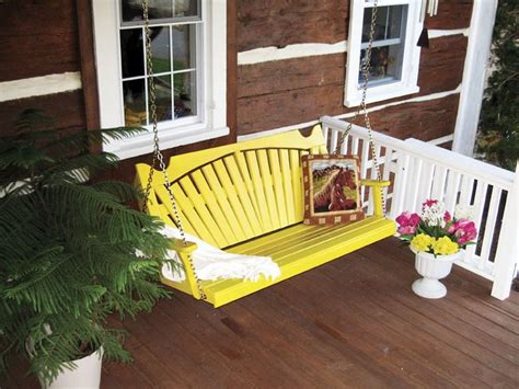 yellow porch swing pin by furniture barn usa on painted stained outdoor