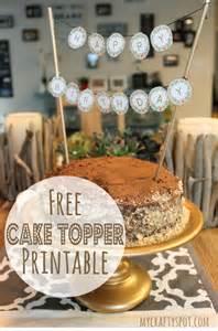 free printable cake topper diy cake decoration