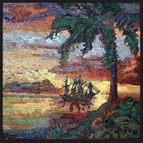 mosaic pattern landscape mosaic smalti smalti landscape mosaic by george fishman