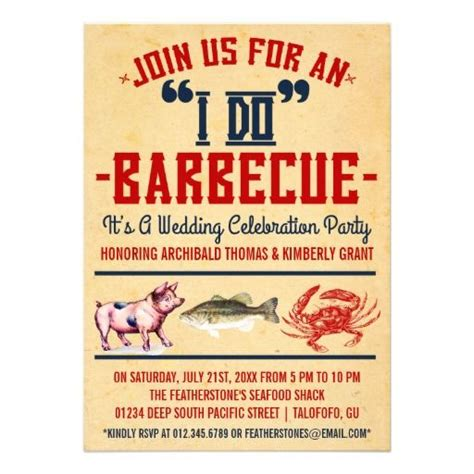 barbecue wedding reception invitation wording 14 best images about invites on
