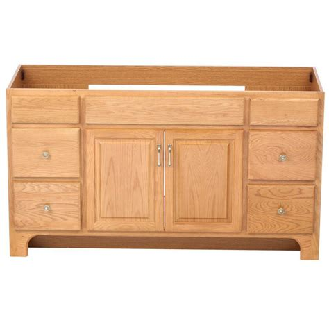 Unassembled Bathroom Vanity Cabinets Design House Richland 60 In W X 21 In D Unassembled Vanity Cabinet Only In Nutmeg Oak 530436