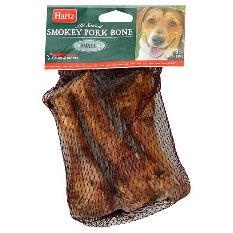 pork bones for dogs hartz smokey pork bone for small dogs 3 bones 4 8 oz 136 g
