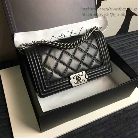 Chanel Quilted Boy Bag Price by Chanel Large Quilted Calfskin Boy Bag Black A14042