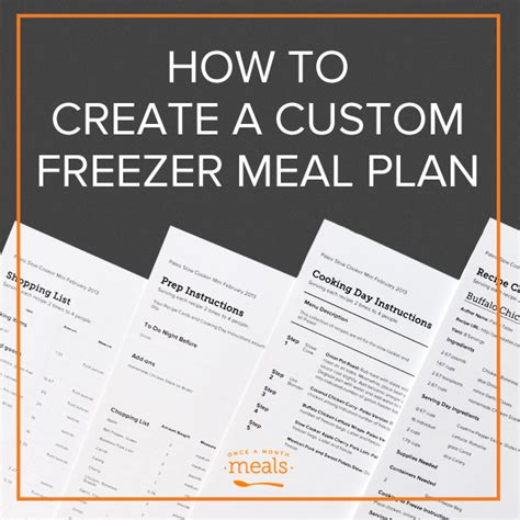 getting a grip build a custom parenting plan that actually works books how to create a custom freezer meal plan