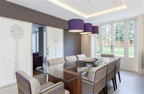 idee salle a manger design d 233 coration de salle 224 manger 233 l 233 gante en violet