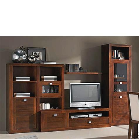 muebles de tv madera maciza nogal espaciodecocom