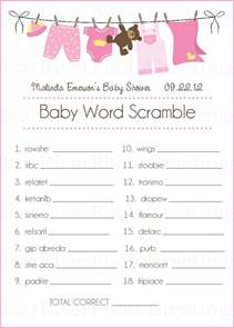 baby shower cards baby word scramble set of 20