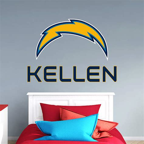 Los Angeles Search By Name Los Angeles Chargers Stacked Personalized Name Wall Decal Shop Fathead 174 For Wall