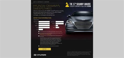 Hyundai Sweepstakes - hyundai grammy s sweepstakes win a vip grammy awards experience