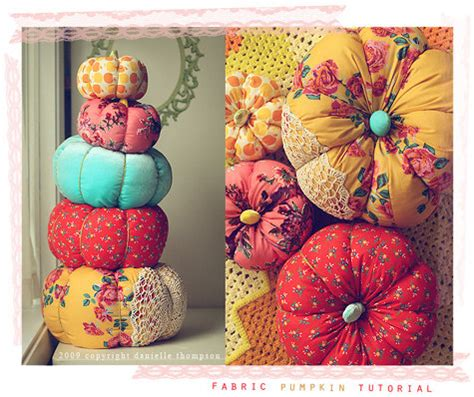 pattern for fabric pumpkins diy project danielle s pretty fabric pumpkins design sponge