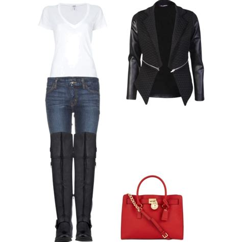 thigh high boots polyvore