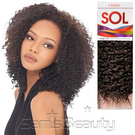 bohemian hair weave in the pack outre sol human hair bohemian curl styling hair extensions