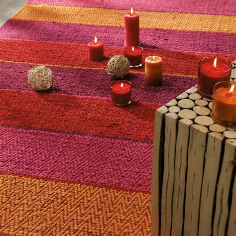 tappeti a righe tappeto intrecciato rosso arancione a righe in cotone 140