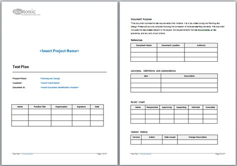 28 test strategy template sle test plan doc