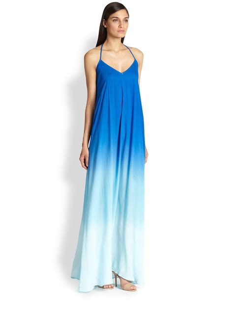 Young fabulous & broke Fortine Ombre Trapeze Maxi Dress in Blue   Lyst