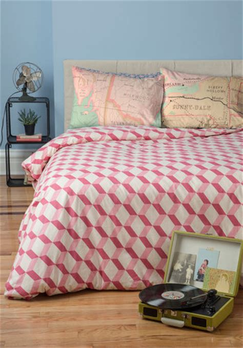 modcloth bedding made to mesmerize duvet cover in king mod retro vintage