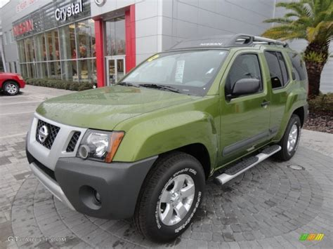 2012 metallic green nissan xterra s 60696572 gtcarlot car color galleries