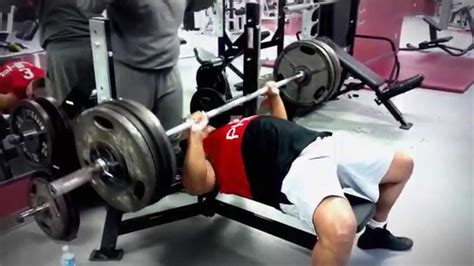 biggest bench press ever big o bench press 420 youtube