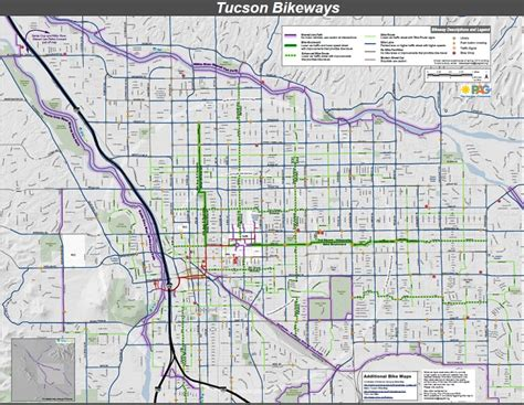 map of tucson tucson bikeways