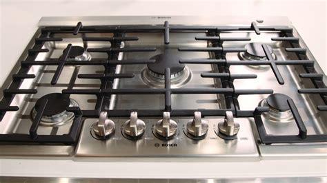 bosch cooktop bosch 800 series 5 burner gas cooktop