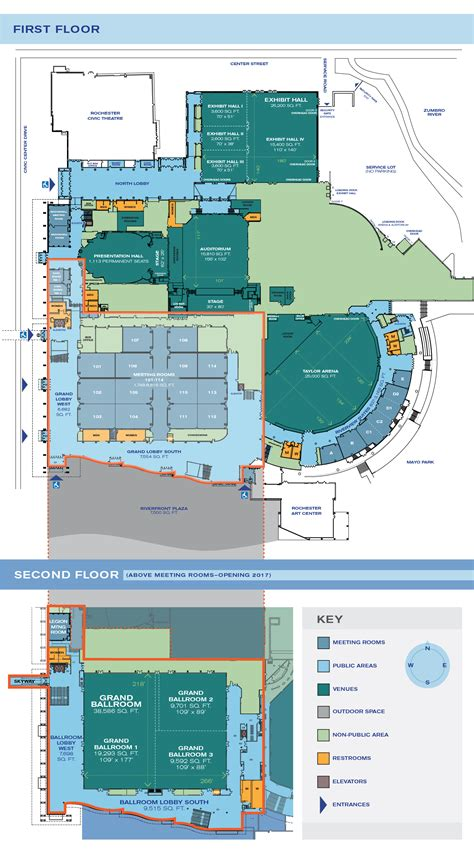 event space presentation software presenting a floor level floor plans mayo civic center