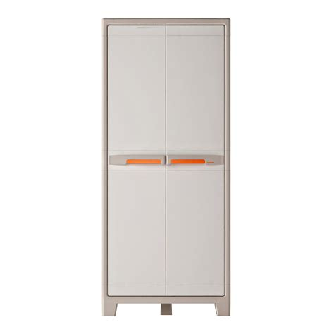 meuble rangement resine armoire haute r 233 sine 4 tablettes spaceo premium l 80 x h 182 x p 44 cm leroy merlin